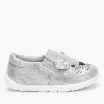 Juniors Textured Slip-On Shoes with Elasticised Gussets