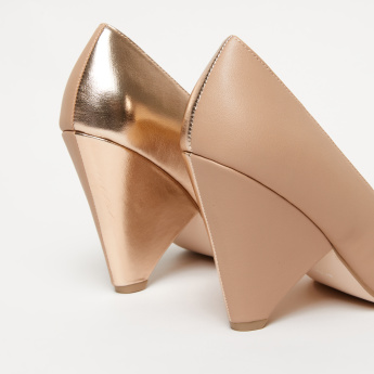 Elle Dual Tone Pumps with Cone Heels