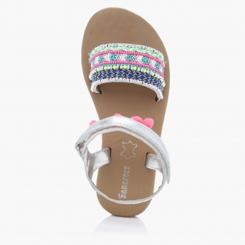 Barefeet Slip-On Sandals with Hook and Loop Closure