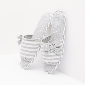 Striped Bedroom Slippers