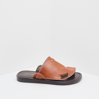 Al Waha Slip-On Sandals with Knot Details