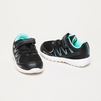 Juniors Textured Sneakers with Hook and Loop Closure