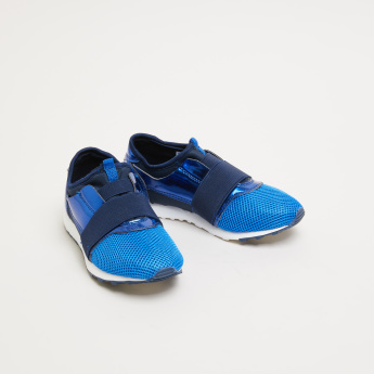 Slip-On Mesh Detail Shoes with Elasticised Vamp Band