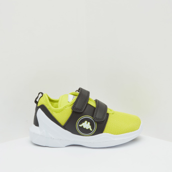 Kappa Textured Sneakers with Hook and Loop Closure