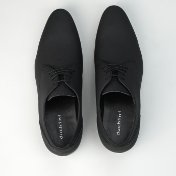 Duchini Textured Lace-Up Derby Shoes