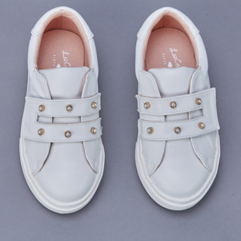 Lee Cooper Embellished Shoes with Hook and Loop Closure