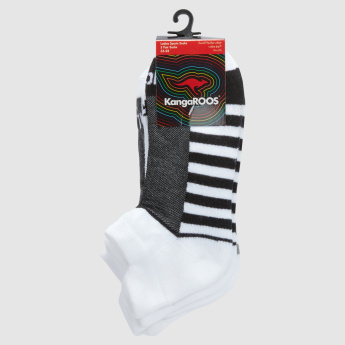 KangaROOS Printed Ankle Length Socks - Set of 3