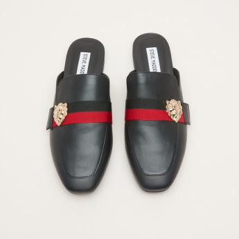 STEVE MADDEN Slip-On Mules with Lion Accent