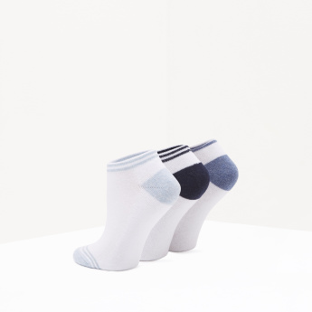 Ankle Length Socks with Elasticated Hem - Set of 3