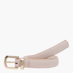 Paprika Textured Belt with Pin Buckle