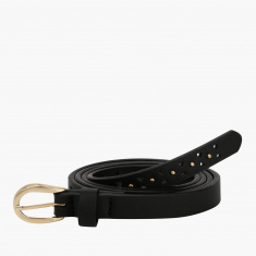 Paprika Embellished Belt with Buckle Closure