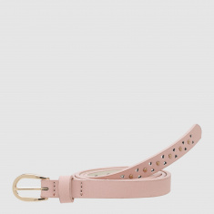 Paprika Embellished Belt with Pin Buckle