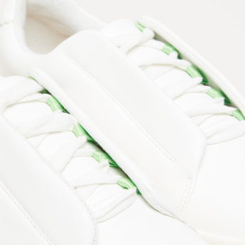 Lace-Up Sneakers with Contrasting Loops