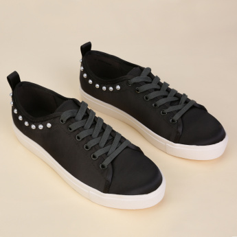 Missy Embellished Lace-Up Sneakers