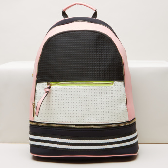 6e2377629d95 Missy Perforated Colour Block Backpack