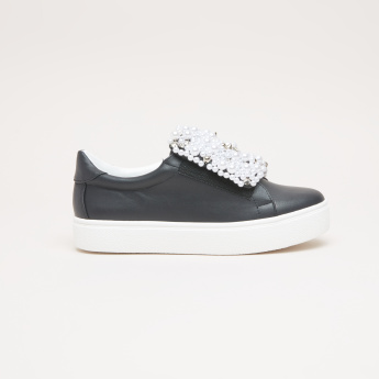 STEVE MADDEN Embellished Slip-On Shoes