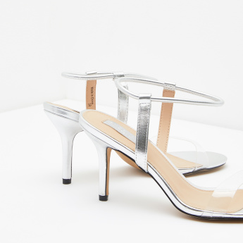 Ankle Strap Heels with Transparent Vamp