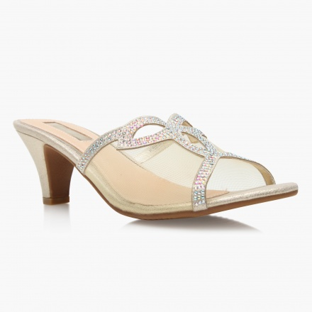 Celeste Low Heeled Embellished Sandals