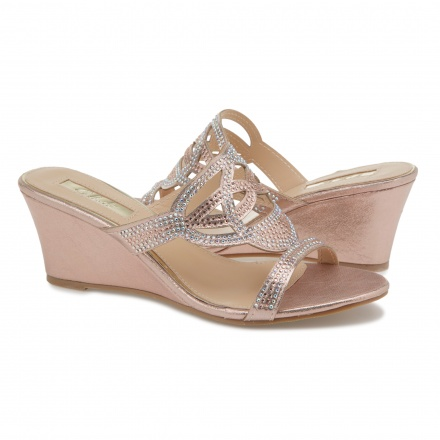 Celeste Embellished Wedge Sandals