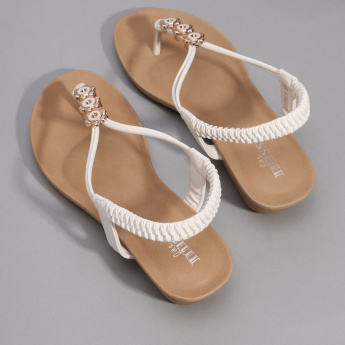 Little Missy Sling Back Sandals with Flower Detail