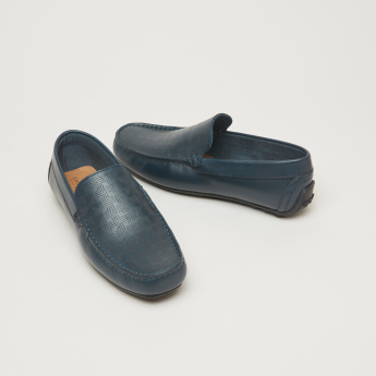 Slip-On Loafers with Texture