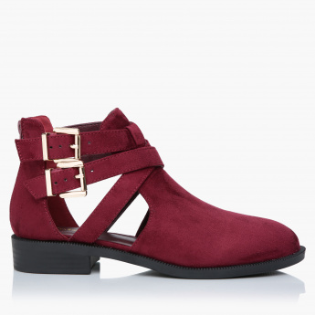 Missy Shoes with Dual Strap Buckle Closure