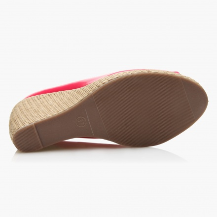 Paprika Rafia Wedge Shoes