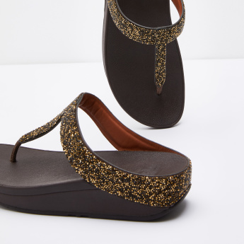 Fitflop Thong Sandals with Embellished Detail