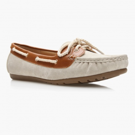Paprika Textured Moccasin Shoes