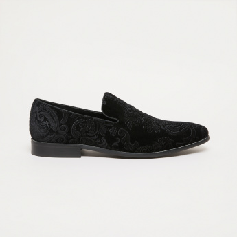 Elle Textured Slip-On Loafers
