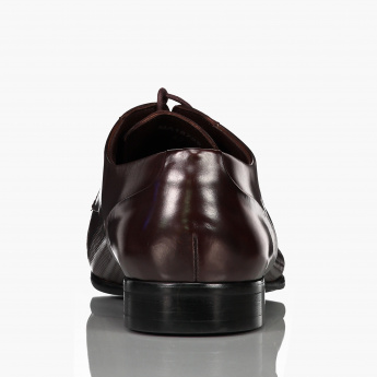 Elle Textured Derby Shoes with Lace-Up Closure