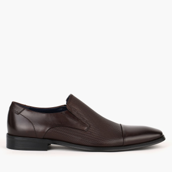 Elle Textured Slip-On Shoes with Elasticised Gussets