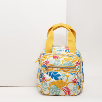 Mindesa Printed Backpack with Twin Handles