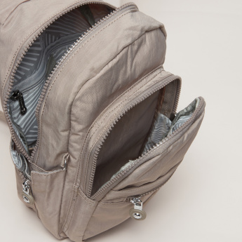 Mindesa Textured Backpack with Multiple Compartments