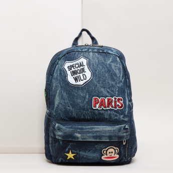 Embroidered Applique Backpack