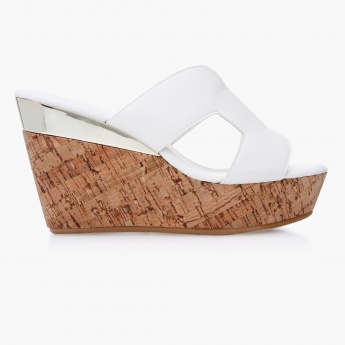 Paprika Cork Wedge Sandals