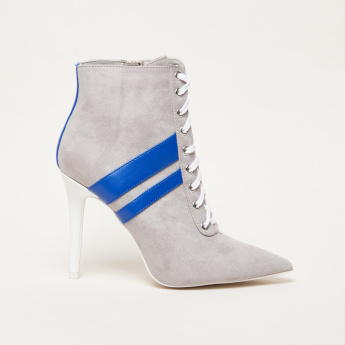 Textured High Top Shoes with Zip Closure