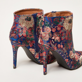 Floral Embroidered High Top Boots