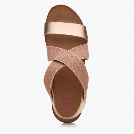 Missy Cross Strap Cork Sandals