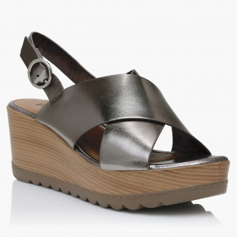 Paprika Cross Strap Sandals with Ankle Strap