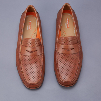 Le Confort Loafers with Laser Cut Detail