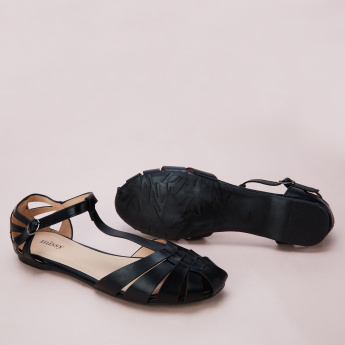 Missy Ankle Strap Sandals with Buckle Closure