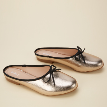 Missy Mules with Bow Detail