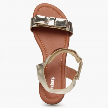 Missy Glossy Velcro Sandals
