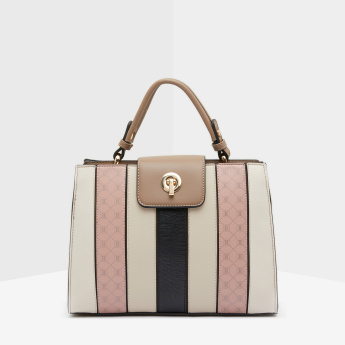 ELLE Patchwork Detail Satchel Bag