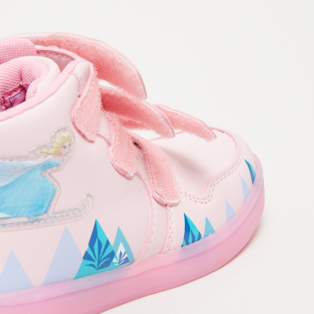 Frozen Printed High Top Shoes with Hook and Loop Closure