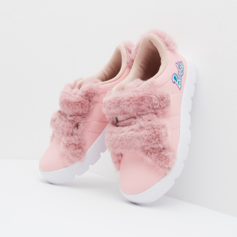 Barbie Printed Sneakers with Plush Detail