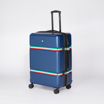 Mia Toro Striped Trolley Bag with Retractable Handle