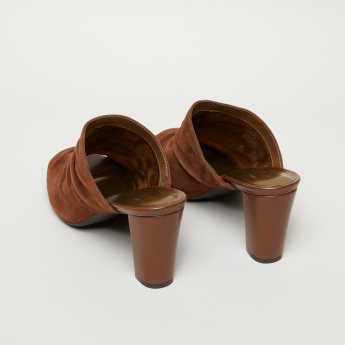 Aerosoles Ruffle Detail Block Heel Slides