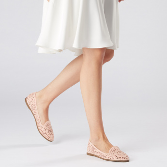 Missy Slip-On Shoes with Laser Cut Detail